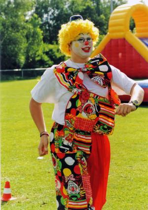 Evelien Rademaker als clown