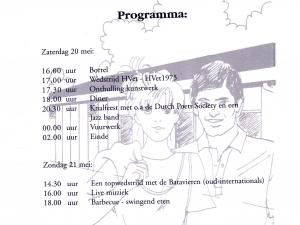 Programma van de viering zoals verschenen in de officiële uitnodiging