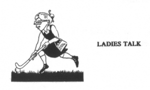 """Balbabbels logo in 1994, in naam al een upgrade van """"stofdoek""""naar """"ladies"""""""