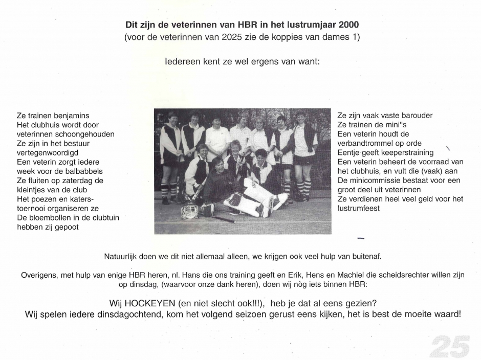 Bijdrage van de Veterinnen aan het Lustrumboek 2000