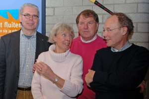 Met mede ere-leden Erik Bakx, Ada en Peter Beckers