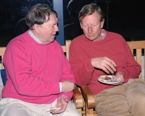 Hens met Jeroen Sillem op een vrijwilligersavond (2007)