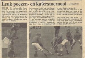 Verslag in De Schakel van 7 mei 1991