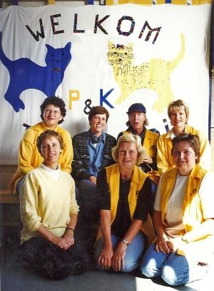 Henriette van Dijk, Diny Verhoeff, Ada Kolff, Simone van Zeevenhoven Annelies van Heusden, Tilly Nolte, Liesbeth de Ronde