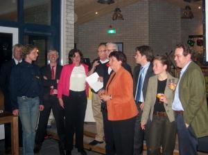 2005 - Erik en anderen worden bedankt voor bijdrage aan nieuwe clubhuis