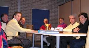 Vergadering met inrichtingscommissie