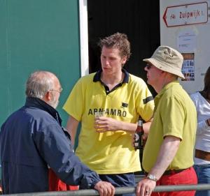 2007: met Jasper van Dijk (H1) en Erik Bakx bij uitwedstrijd in Bodegraven