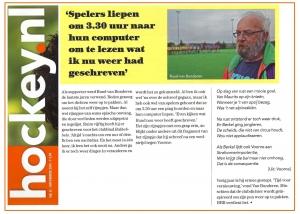 Een typerende quote van Ruud in Hockey.nl
