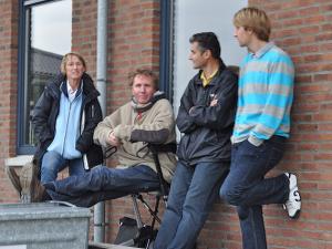 2009: Met Josephine de Bie, Frans en Stefan