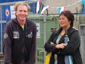 2011: met Marianne van Dort bij Leo