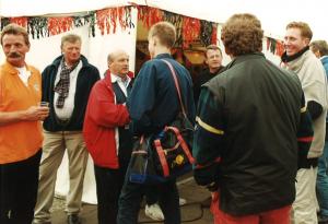 2000: promotie met H1, aankomst bij Lustrumfeesttent