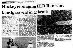 HBR krijgt in 1988 zijn eerste kunstgrasveld
