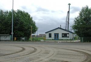 clubhuis gezien vanaf het veld