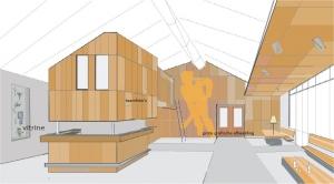 Eén van de ontwerpversies voor het interieur