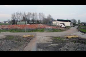 Tennisbanen en clubhuis TOGB op de plaats waar Veld 2 zal komen