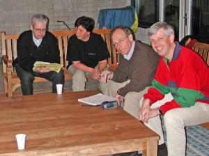 28 februari inrichtingsoverleg met Erik Bakx, Ger v.d. Windt, Peter Beckers en Joost van der Waa