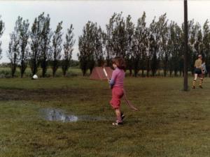 ...en als het geregend had bleven de plassen lang staan!