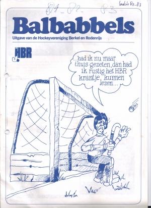 "vanaf eind seizoen 1982-1983 ons blad ""Balbabbels"""