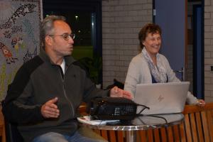 Ramsey Jansen en Annelies van Heusden geven spelregeltraining