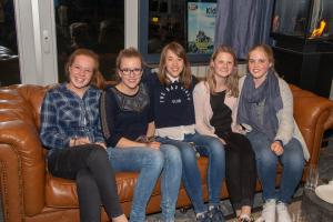2016: 5 winnaars bij elkaar - Lisa, Eline, Sophie, Liza en Eline