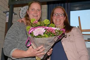 2015: Karen van Toorn met Sonja de Boer (erelid 2015)