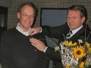 2005: Peter Beckers (erelid) en Harm Mallée (Lid van Verdienste)