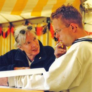 2000: Paul Kooiker (voorzitter Lustrum Cie hier met Ada bij Lustrum in 2000