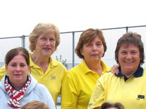 1996: 4 op een rij! vlnr: Marijke Kuyken, Tilly Nolte, Gerrie vd Windt en Liesbeth de Ronde in 2006