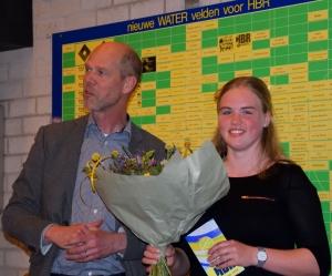 Eline Smorenburg junior vrijwilliger van het jaar