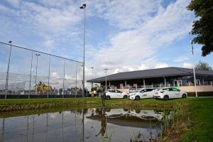 Nieuwe sponsorauto's van Cas Lamens en mede-sponsors